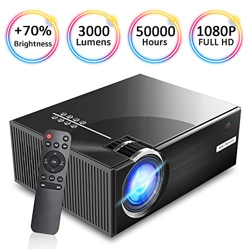 WiFi Video Projectors, iBosi Cheng WiFi Display Projectors Mini Projector Full HD 1080P Home Projector, Wireless Display Projector LCD Portable Movie Projector with HDMI USB VGA Ports