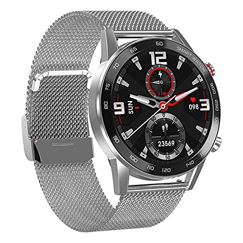WEINANA Reloj Inteligente De Toque Completo para Hombres, Reloj Inteligente con Llamada Bluetooth, Reproducción De Música, Pulsera De Fitness,Reloj Inteligente IP67,Reloj Digital Deportivo(Color:mi)