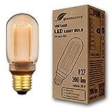 greenandco® lampadina a LED di design vintage in stile retrò per l'illuminazione d'atmosfera E27 T45 4W 200lm 1800K (bianco extra caldo) 320° 230V AC vetro, nessun sfarfallio, non dimmerabile