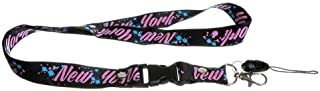 New York Pink Splatter Lanyard Clip Keychain ID Cell Phone Holder-23