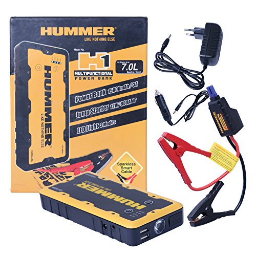 Hummer H1 Multifunctional Power Bank 15000mAh / Jump Starter/Booster Cable/Jumper Cable/LED Light