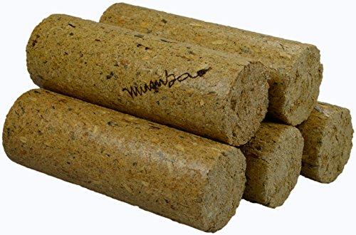 mumba Nadelholzbriketts rund ohne Loch 30kg insgesamt runde Nadelholz-Briketts Holz-Briketts
