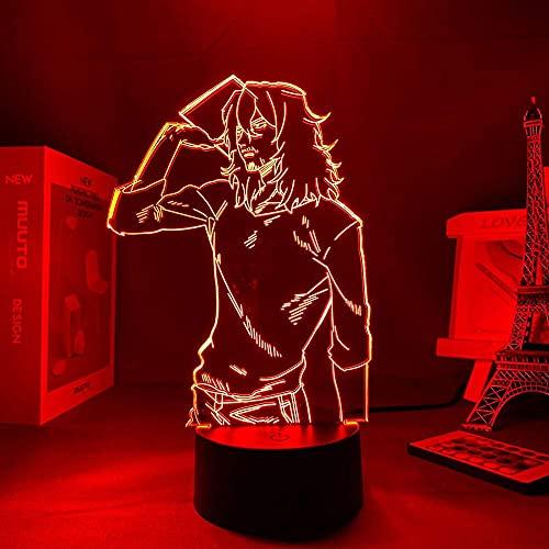 7 colores luz de noche anime My Hero Academia Shota Aizawa luz para decoración de dormitorio luz LED luz de noche