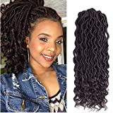 "Lihui 6Pcs/Lot Goddess Locs Crochet Hair For Black Women Curly Faux Locs Crochet Hair Braids Pre Looped Soft Locs Crochet Hair (14"", #4 Color)"
