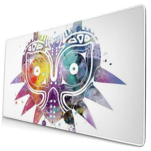 Extra Large Mouse Pad -Majoras Mask The Legend of Zelda Desk Mousepad - 15.8x29.5in (3mm Thick)- XL Protective Keyboard Desk Mouse Mat for Computer/Laptop