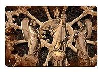 ノートルダム大聖堂、ブリキのサインヴィンテージ面白い生き物鉄の絵画金属板パーソナリティノベルティ