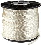 "Samson Rope 019024005030 Solid Braid Nylon Cord in Spool, 3/8"" Diameter, 500' Length, 2500 lbs Strength, 375 lbs Working Load Limit"