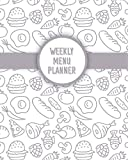 Weekly Menu Planner: Six Month Weekly Menu Planner With Grocery List, Blank Recipe Sheets, Recipe Index And More
