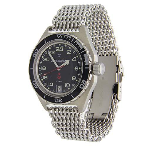 Vostok Komandirskie #650XXX Automatic 200WR Wristwatch Shark Mesh (650541)