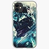 Rising Gear and Hack Gaming Raiden Slash Metal Cubierta de la Caja del teléfono de diseño único Snap/Glass para iPhone, Samsung, Huawei - TPU a Prueba de Golpes Interior Protector