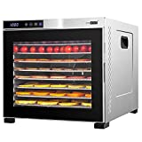 VIVOHOME Stainless Steel Electric 1000W 10 Trays Commercial Food Dehydrator Machine with Digital...
