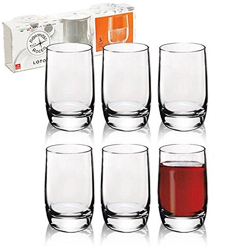 Urbnliving - 6 bicchieri da liquore Bormioli Rocco Loto da 65 ml