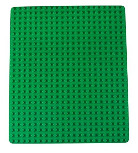 """Strictly Briks - Stapelbare Premium-Bauplatte - kompatibel mit Bausteinen Aller führenden Marken - nur für Steine mit großen Noppen geeignet - 16,25"""" x 13,75"""" (41,3 x 34,9 cm) - Grün"""