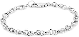 Sterling Silver Jewelry Hand-Made Fancy Link Chain...