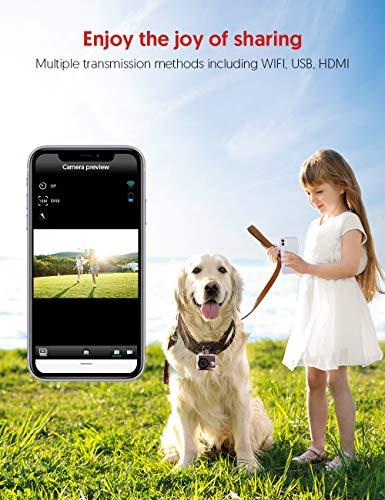 Victure AC900 Cámara Deportiva 4K 20MP Wi-Fi (Pantalla Táctil EIS Cámara Acción Impermeable 30M Amplio Angulo Ajustable Lapso de Tiempo Camara Lenta 2×1350mAh Baterías)