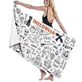 huatongxin Halloween Drawings Vector Set of Design Elements The Toalla de baño Five-Star Hotel Quality .Premium Collection Bathroom Towel.Soft,Plush and Highly Absorbent (1 Toalla de baño 31x59 Inc