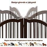 Immagine 2 costway cancello pieghevole in legno