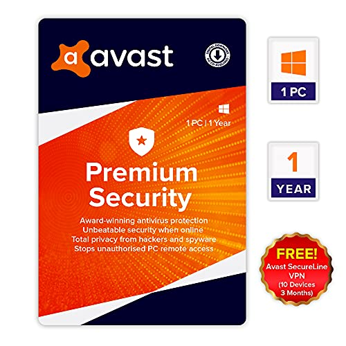 Avast Premium Security (Total Security Antivirus) (1 PC   1 Year) (Email Delivery in 2 hours- No CD)