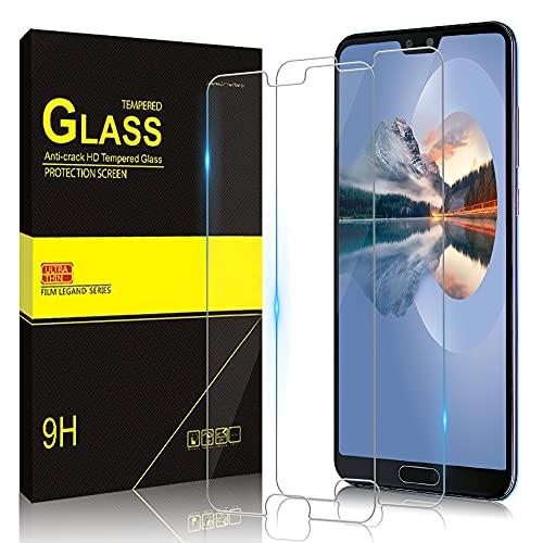 Zinking [2 Stück] Panzerglas Schutzfolie für Huawei P20 Pro, Nano-Beschichtung Bildschirmschutz, Fingerabdruckresistent, Kratzresistent, Bildschirmschutzfolie für Huawei P20 Pro