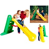 Little Tikes Easy Store Large Slide - Playset for Indoor or Outdoor Use - Durable, Stable, Kid-Safe - Folds for Easy Travel & Storage - Orange & Green