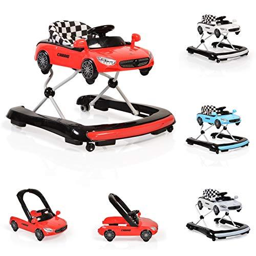 Cangaroo Cabrio 2 in 1 Lauflernhilfe und Laufwagen (Rot)