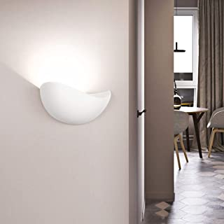Elegent LED Crescent Moon Black White Wall Lamp Aisle Bedroom Dining Living Room Study Balcony Aluminum Acrylic Warm Yellow Light Simple Minimalism Outdoor Waterproof Cozy (Color : White)