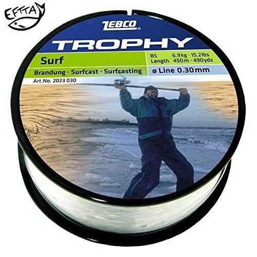 Zebco Topic Surfcast Specialine Monofile Schnur - Ø 0,40 / Frisch NEU