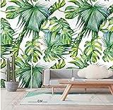 Papel Pintado Sudeste Asiático Bosque Tropical Lluvioso Fresco Verde Hoja De Plátano Papel Tapiz Para Restaurante Restaurantes Clubes Murales Ktv