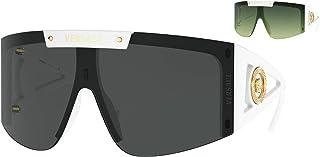 Versace Woman Sunglasses, White Lenses Nylon Frame, 46mm