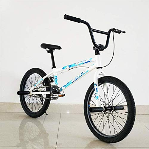 HCMNME Durable Bicycle Adults 20-Inch BMX Bike, Professional Grade Stunt Action BMX Bicycle, Suitable for Beginner-Level to Advanced Riders Street BMX Bikes Alloy Frame with Disc Brakes