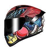Bluetooth for toda la cara El tirón ligero casco de la motocicleta de la moto Crash modular casco DOT / ECE Aprobado ciclomotor Bobber del crucero del interruptor piloto que compite con el casquillo L