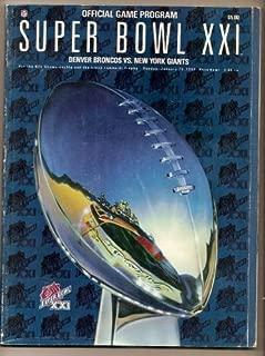 Super Bowl 21 XXI Official Game Program Giants