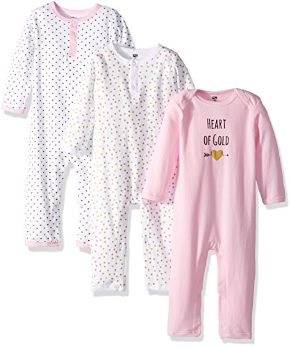 Hudson Baby Unisex Baby Cotton Coveralls Heart 912 Months