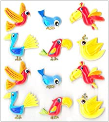 Dimensional Bird Stickers