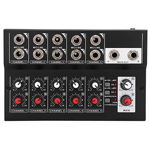 Mezclador de audio, Material de aleación, Mesa de mezclas con 10...