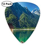 Púas de guitarra de celuloide, Predil Lago alpino Norte de Italia Frontera eslovena Alpes Julianos Paisaje idílico