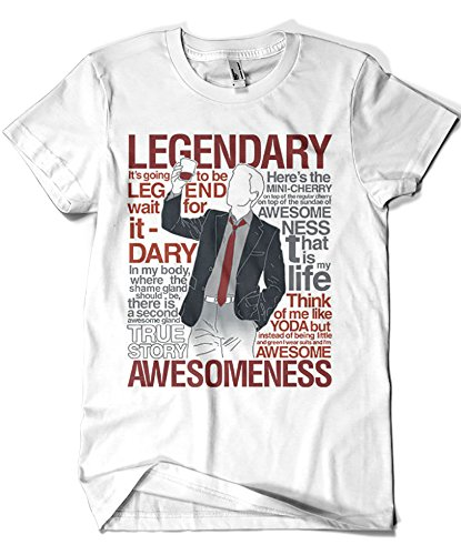 Camisetas La Colmena 1403-Parodia Legendary T-Shirt of Awesomeness (Azafran)