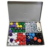 Sonsan - Juego de moléculas moleculares de química, 240 piezas, kit de modelo, química general y orgánica, atombons, set de estudiante