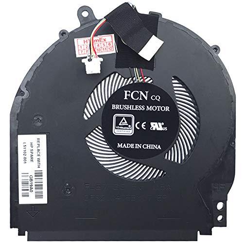 Lüfter Kühler Fan Cooler kompatibel für HP Pavilion x360 14-dh0105ng, x360 14-dh1003ng, x360 14-dh0003ng, x360 14-dh0907nz, x360 14-dh0305ng, X360 14-dh1630ng, X360 14-dh1351ng
