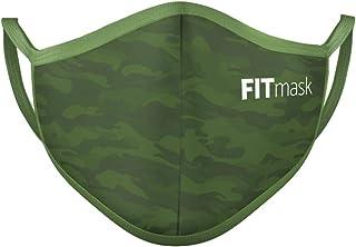 FITmask Mascarilla Reutilizable Lavable Certificada Tejido Hidrófugo Made in Spain Green Camo - Adulto Orejera - L