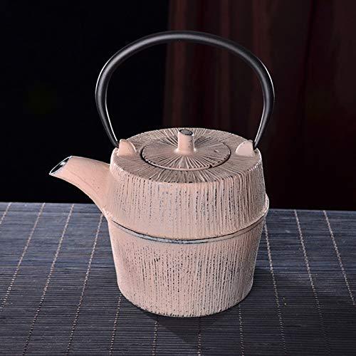 HRN Teekannen-Workshop Japanische Tetetubin-Tee-Kessel-Gusseisen-Teekanne Mit Edelstahl-Infuser, Für Safe-Kochplatten Alle Wärmequellen