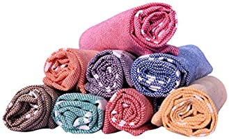 COMFORT WEAVE Cotton Hand Towel (Set of 8, Multicolor)