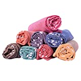 COMFORT WEAVE Cotton Hand Towel (Set of 8, Multicolor)