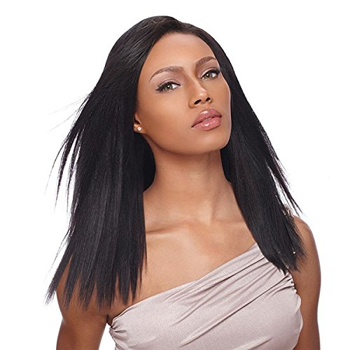 "Sensationnel 100% Human Hair Clip-in Weave Yaki 14"" (LARGE - 9 INCH, 1 - JET BLACK)"