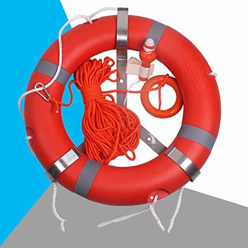 Professioneller Rettungsring für Erwachsene, Schwimmring aus Polyethylen-Kunststoff, ccs-Zertifizierung für Schiffsinspektion, 2,5 kg Rettungsring-Rettungsring + Rettungsleine + Rettungsring Licht