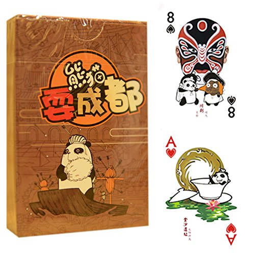 Creative Jeu de cartes, cartes de poker, Panda Goes to Chengdu