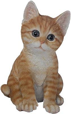 Hi-Line Gift Ltd Tabby Cat Figurine, Orange