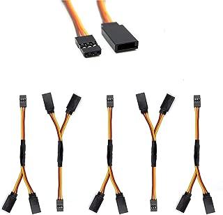 5 Pcs JR/Spektrum/Hitec/Futaba Style Servo Y Harness Leads Splitter Cable for RC Models Airplane 10cm