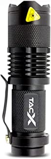Alpha1 TacLight | 300 Lumen Mini CREE LED Flashlight | Super Bright Handheld Torch Light | Adjustable Zoom | 3 Modes | Drop Proof | Water Resistant | Camping, Hiking, Jogging (1 Pack)