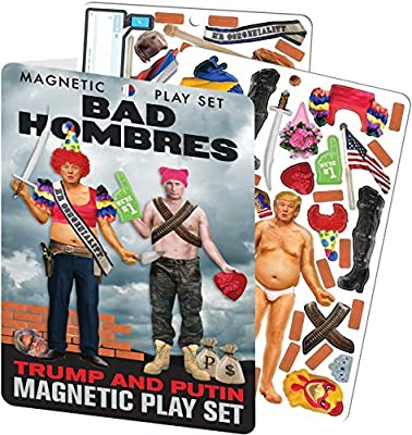 The Unemployed Philosophers Guild Bad Hombres - Trump and Putin Magnetic Dress Up Doll Play Set from The Unemployed Philosophers Guild